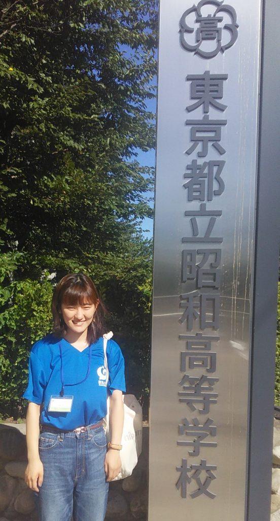 学生広報大使が母校を訪問しました