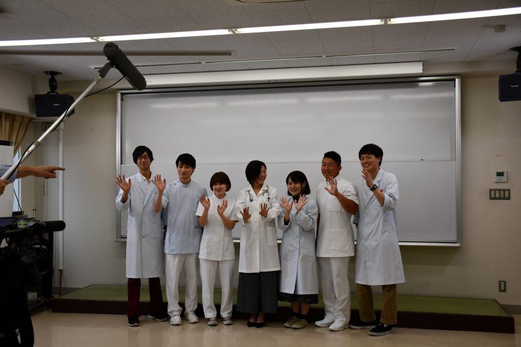GU'DAY2019のYouTube用CMに出演する学生広報大使