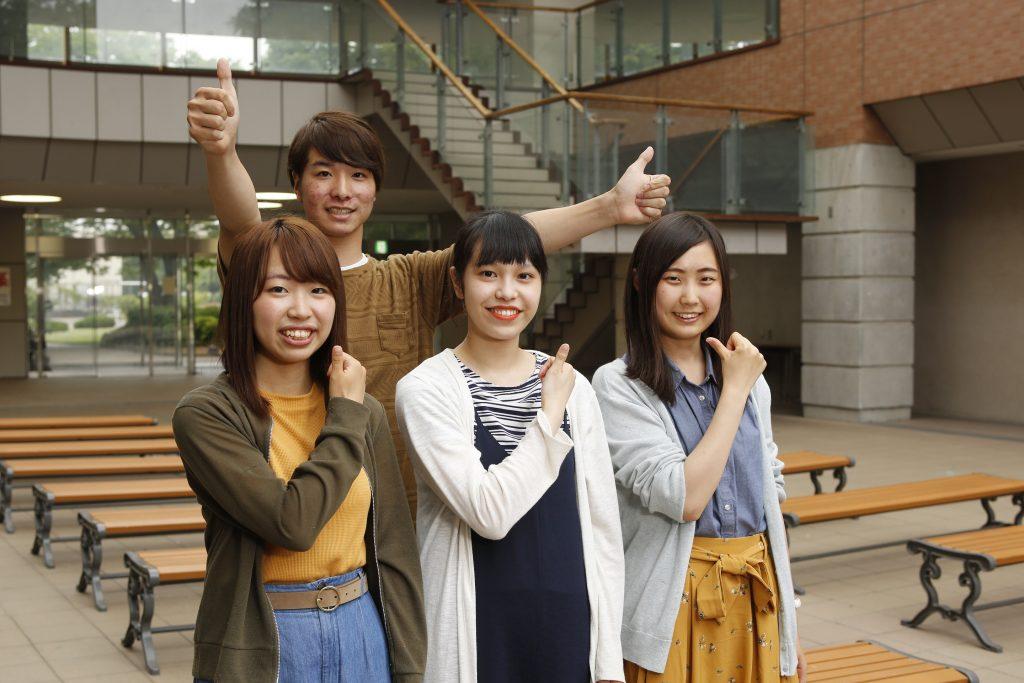 GU'DAY2018のYouTube用CMに出演する学生広報大使